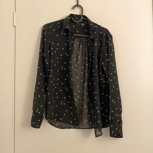 Uniqlo shirt, black with green dots, cute piece